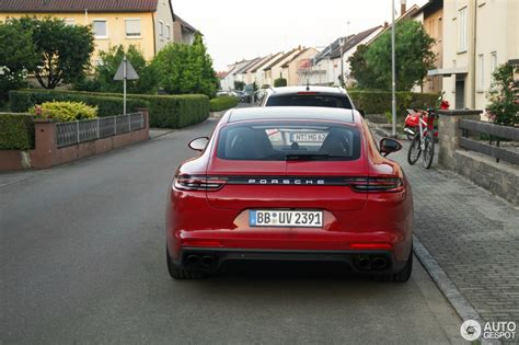 porsche panamera hybrid red there s no way you can miss a red porsche panamera turbo s