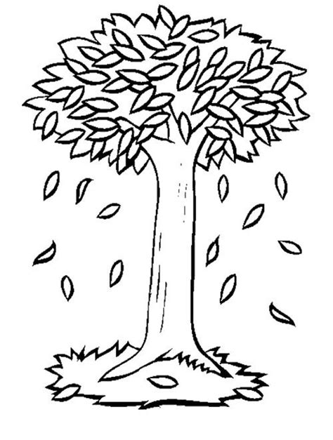 Tree No Leaves Coloring Pages Freecoloring4u Com Fall Tree Coloring Page