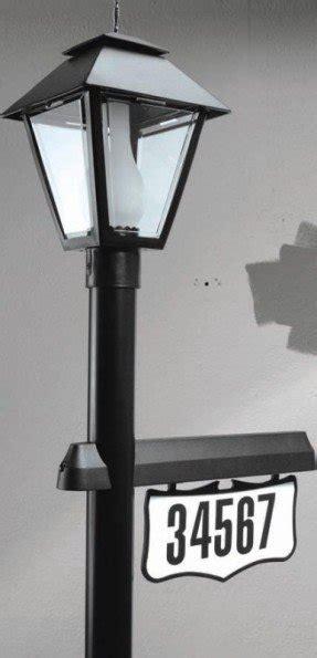 mailbox post solar light solar address light foter