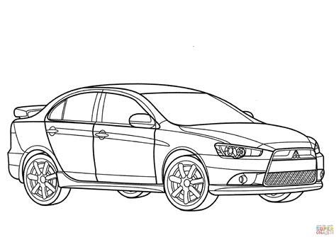 coloring pages rally cars mitsubishi lancer ralliart coloring page free printable
