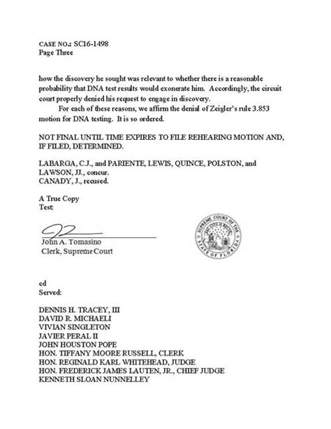 Emergency Dna Testing Denied by Zeigler Touch Dna Denied Defrosting Cold Cases