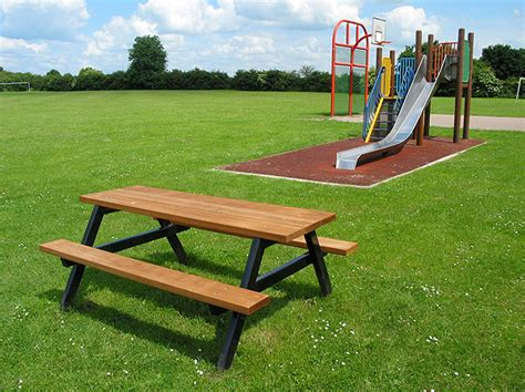 metal picnic benches ploughman traditional timber outdoor picnic bench table
