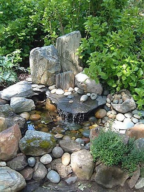 Rock Garden Waterfall 30 Beautiful Backyard Ponds And Water Garden Ideas