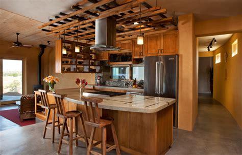 santa fe style kitchen cabinets ceiling trellis over custom kitchen southwestern