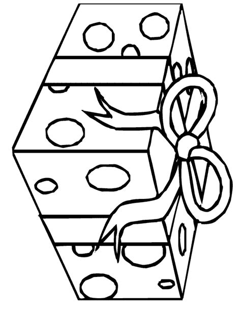 present coloring page coloring home