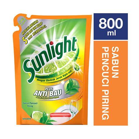 Sabun Cuci Piring Kwalitas Premium jual sunlight sabun cuci piring anti bau refill 800 ml harga kualitas terjamin