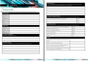 Employee Profile Template by Professional Employee Profile Template Excel And Word