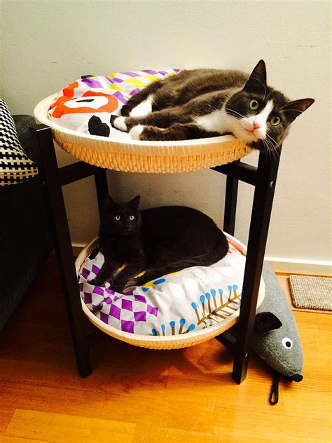 cat bed side table the bloq by binq design 10 amazing ikea hacks your pet will absolutely love