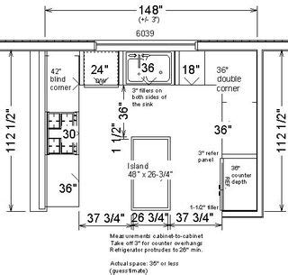 kitchen design layout measurements standard dimensions in kitchen design best home