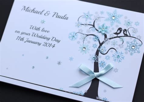 Personalised Wedding Cards Handmade - large handmade personalised winter wedding congratulations