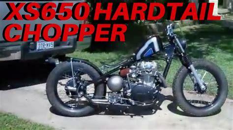 yamaha xs bobber custom hardtail chopper youtube