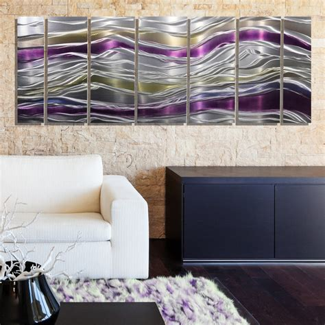 purple and gold room endeavor abstract purple silver and gold modern metal