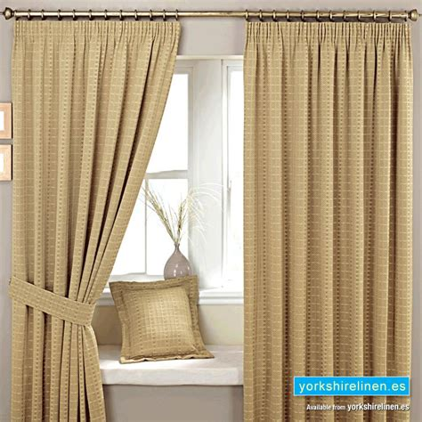 Marlowe Natural Pencil Pleat Curtains Yorkshire Linen