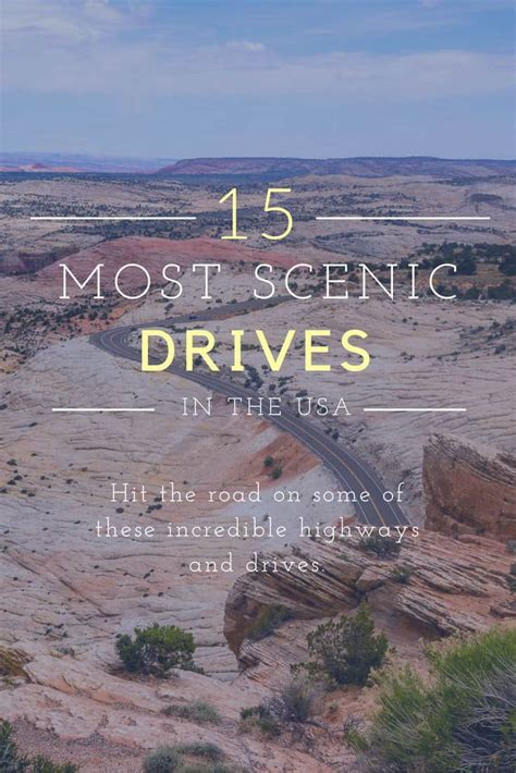most scenic roads in usa 15 most scenic drives in the usa desk to dirtbag