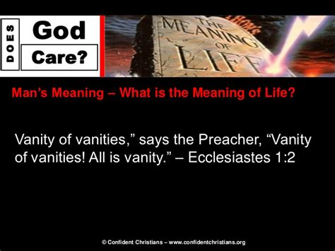 What Does Vanity In Ecclesiastes by Six Steps Step 6 Does God Care About Me