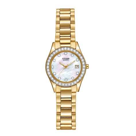 citizen gold tone with matching bracelet in