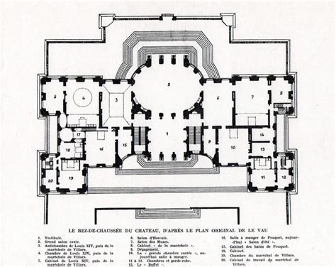 chateau floor plans chateau de vaux le vicomte ground floor plan