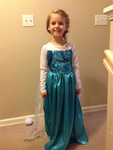 Elsa Handmade Costume - elsa costume for made adjusting a simplicity dress