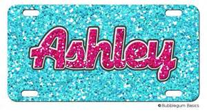 Girly Vanity Plate Ideas Personalized License Plate Glitter Bling Pattern Girly