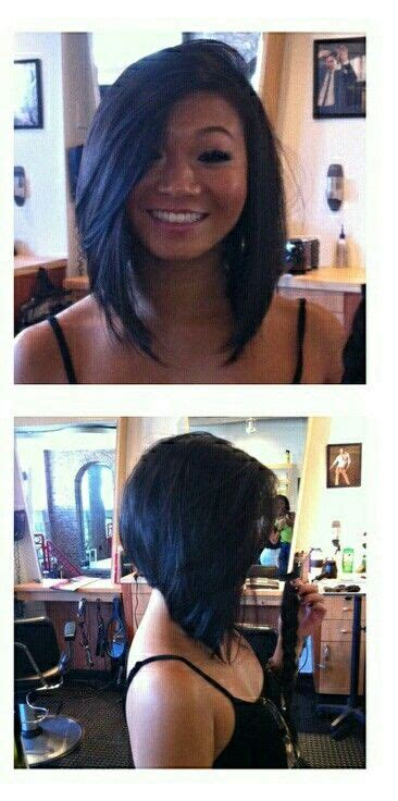 short back long frontvwith bangs inverted bob long bangs short in the back hairstyle