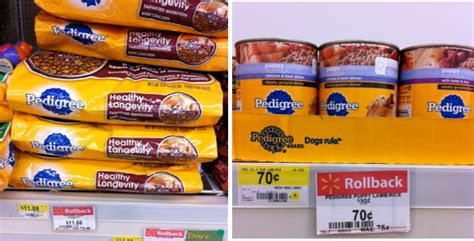 pedigree food walmart great deals on pedigree with printable coupons