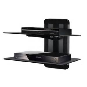 wall mount dual shelf for tv av component player