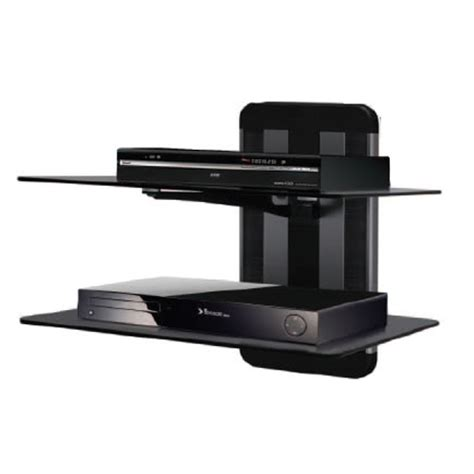Wall Mount Shelf For Cable Box wall mount dual shelf for tv av component player