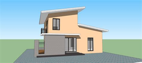create a house sketchup create modern house in 15 min