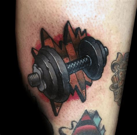 bodybuilding tattoos 40 barbell designs for bodybuilding ink ideas