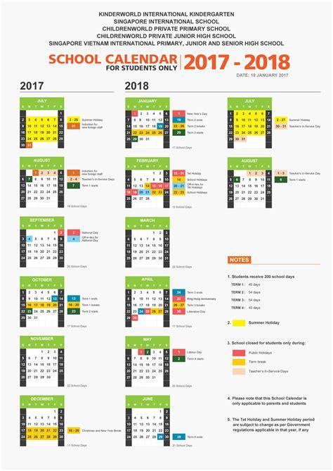 new year singapore holidays 2018 school calendar