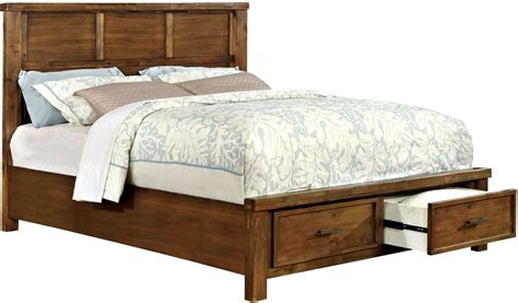 oak queen bed baddock antique oak queen panel storage bed cm7692q