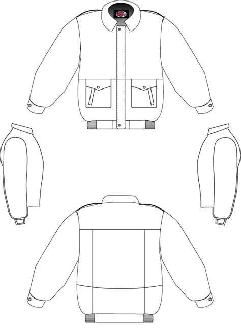 bomber jacket template ucj templates home