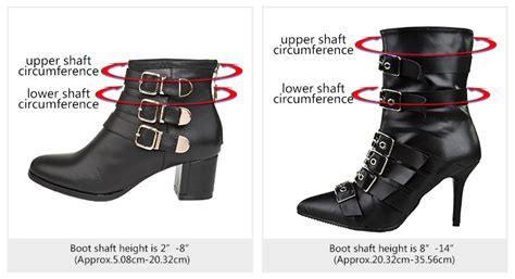 how to measure boots shaft height and circumference
