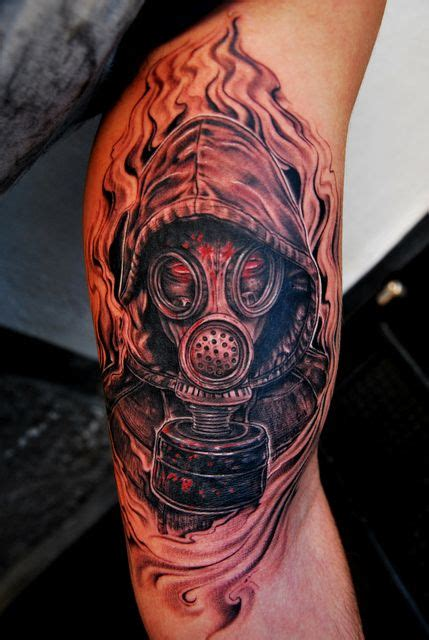 16 zombie tattoo exles 16 best tattoo m 225 scara de g 225 s gas mask images on