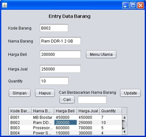 tutorial netbeans bahasa indonesia tutorial java netbeans mysql sourcecode sistem informasi