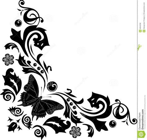 V22 Wallpaper Sticker Motif Vintage Purple black butterfly corner decoration stock illustration