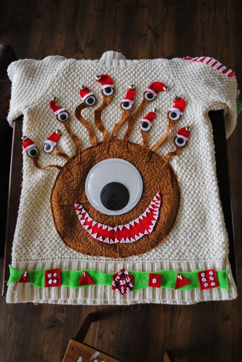 Sweater Dungeons And Dragons Hitam it s a beholder sweater