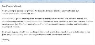 Thank You Letter Of Teacher Sample Thank You Letter To Teacher Template Formal Word