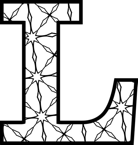 color with l free printable alphabet letters coloring pages