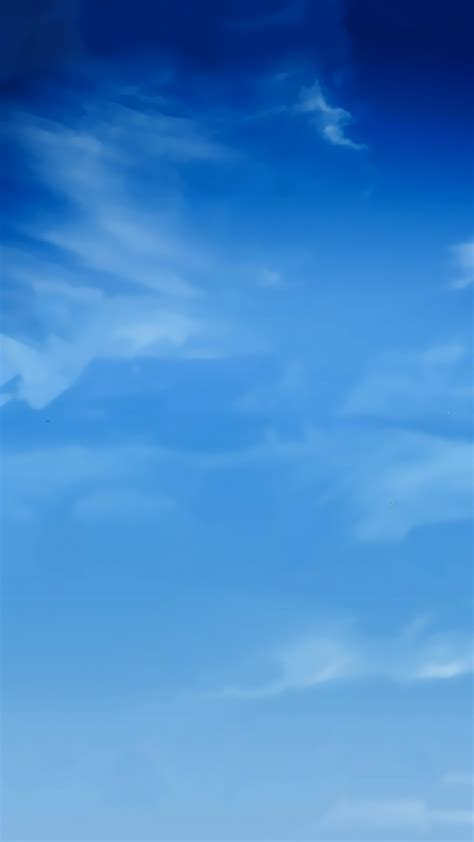 wallpaper android blue blue sky smudge clouds android wallpaper free download