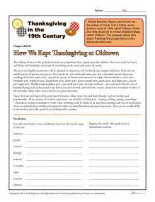 thanksgiving worksheets for 5th grade reading comprehension worksheets 5th grade thanksgiving