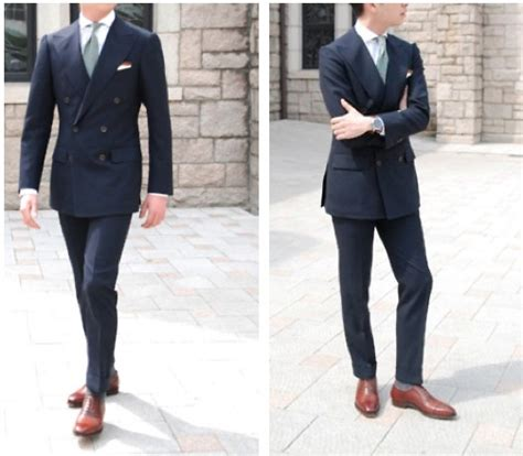if i wear a navy suit brown shoes light blue shirt and a brown shoes with navy suit the clothing a gentleman