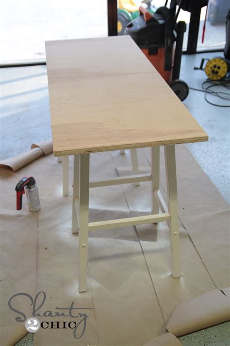 Easy Front Desk by Simple Diy Desk Shanty 2 Chic