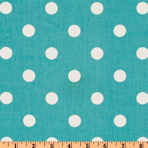 Girly Blue premier prints polka dot twill girly blue white discount designer fabric fabric
