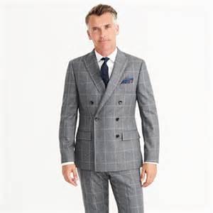 Ludlow double breasted suit jacket in windowpane italian wool flannel