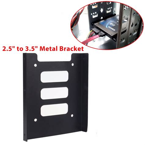 Bracket Ssd 2 5 By Data new 2 5 to 3 5 pc ssd hdd drive metal tray