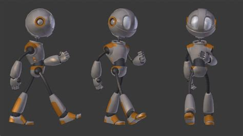 blender 3d robot tutorial practicing animation in blender every day for a year day