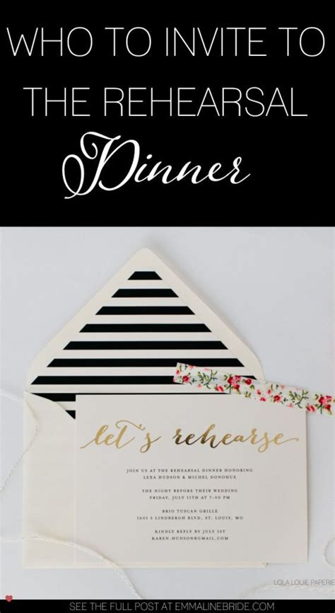wedding rehearsal dinner invitation etiquette who to invite to the rehearsal dinner and why