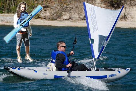 kayak boats sail quiksail universal kayak sail seaeagle