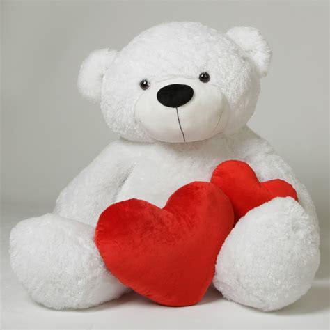 coco cuddles white stuffed teddy 60 in 5 foot